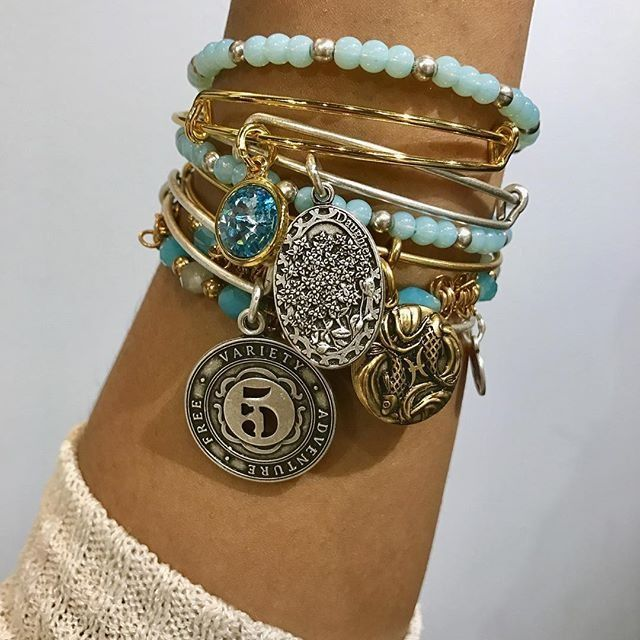 ALEX AND ANI March Blueprint | ALEX AND ANI March Birthstone Charm Bangle | ALEX AND ANI Number 5 Charm Bangle | ALEX AND ANI Pisces Charm bangle
