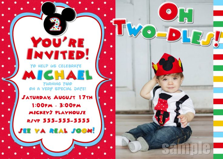 Unique Mickey Mouse Invitation Ideas On Pinterest Mickey - Birthday invitation templates for 1 year old