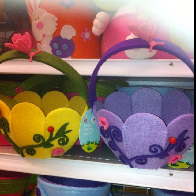 Kylie Brooks. Heaps of cute felt Easter baskets at target