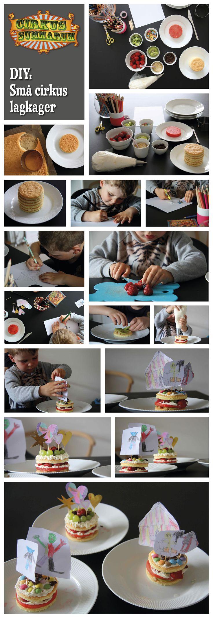 DIY dine egen små cirkus-lagkager. Læs mere på www.cirkussummarum.dk. DIY'en er lavet af @pernillebang