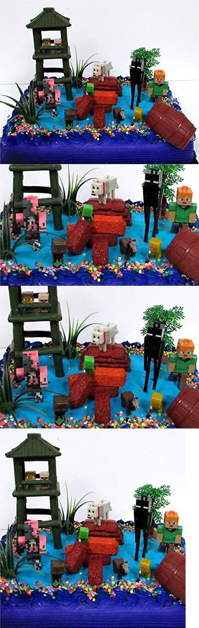 Cake Toppers 170165: 12 Piece Minecraft Themed Birthday Cake Topper Set Featuring Minecraft Charac... -> BUY IT NOW ONLY: $39.6 on eBay!