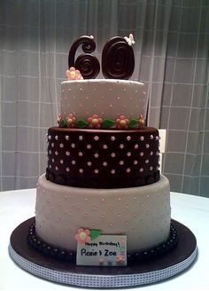 17 best 60th Birthday cakes images on Pinterest Anniversary ideas