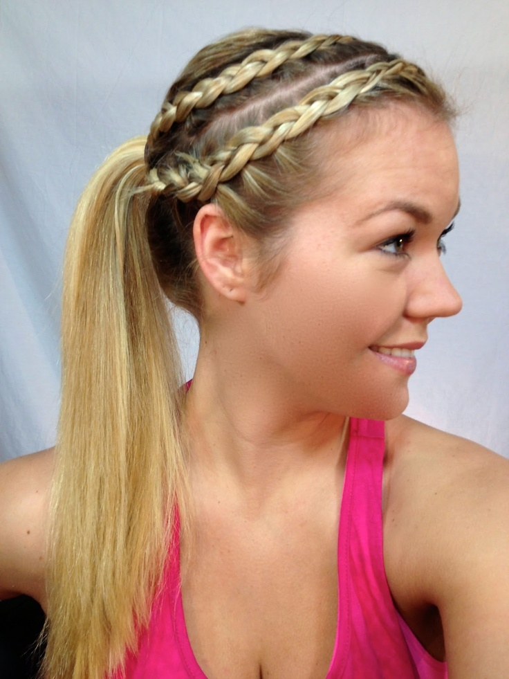 To die for: Pony Tail with Braided Rows for Working Out! Tutorial