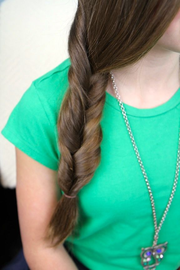 Faux Fishtail Braid | Easy Braid Hairstyles