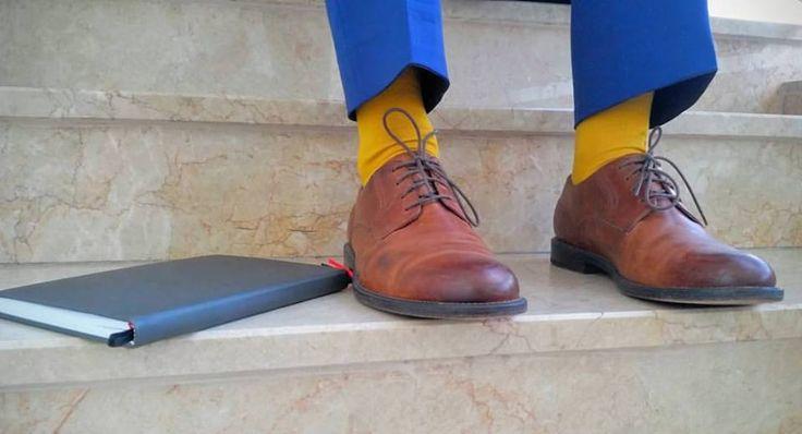 Rebel's Agenda + Indigo Suit + Mustard Socks :D
