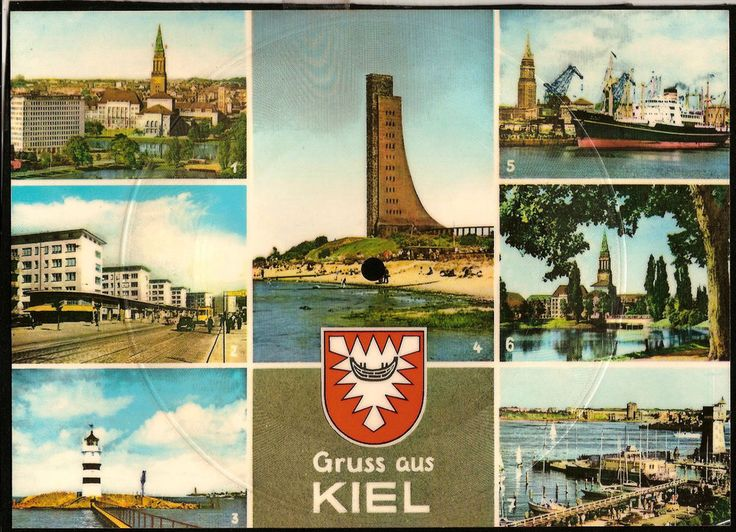 Vintage musical 45 rpm record postcard Germany Gruss aus KIEL