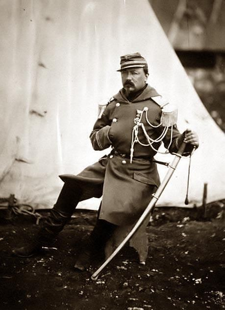 The Provost Marshal of the Division of General Bosquet - by Roger Fenton, 1855