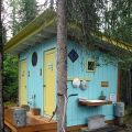Fancy outhouse in Talkeetna, Alaska
