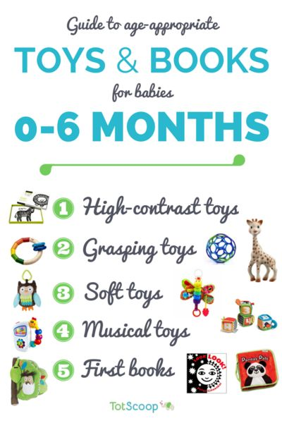 Our editors' top picks for toys and books for young infants — from high-contrast, grasping, teething, soft, and interactive toys to first books.