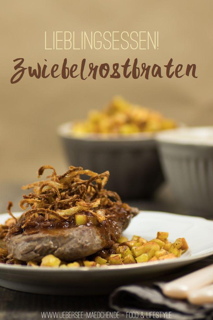Rezept für Zwiebelrostbraten mit leckerer Sauce einfach selbstgemacht | Recipe for Steak with fried onions and a creamy sauce via ÜberSee-Mädchen.de