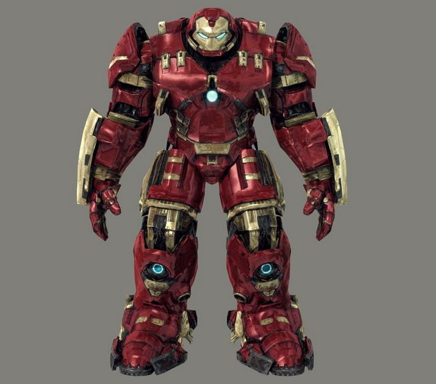 Life Size Iron Man Armor Model 14 Hulkbuster Papercraft for Cosplay Free Template Download