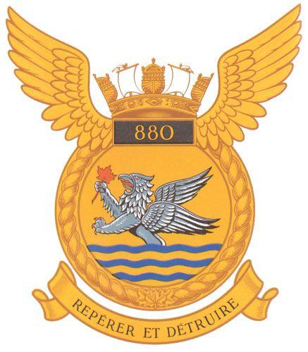 880 Squadron Badge - The Canadian Navy - ReadyAyeReady.com
