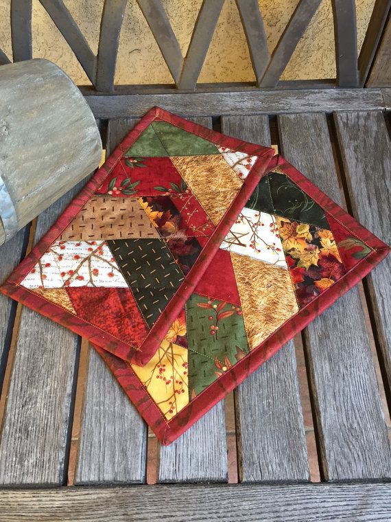 238 best mug rugs and hot pads images on Pinterest | Place mats ... : quilted hot pads - Adamdwight.com
