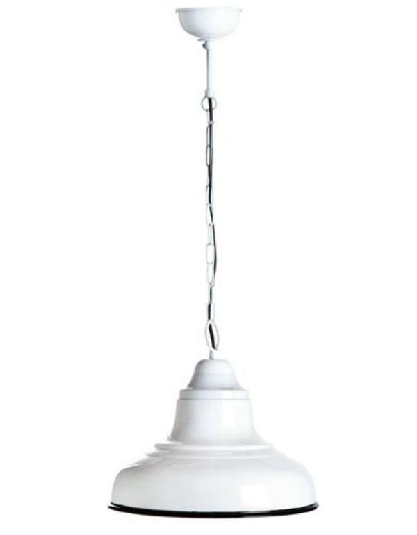 Brasserie Rustic Pendant Light Small White