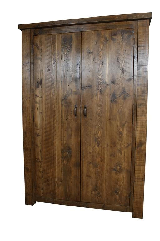 Chunky Double Wardrobe Solid Reclaimed Wood Furniture Uk