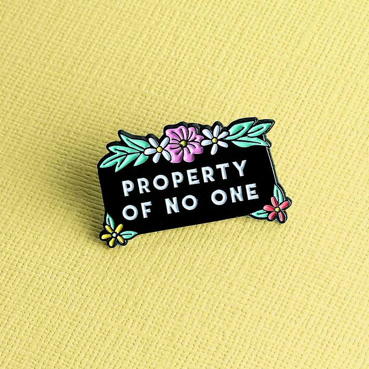 Property Of No One Enamel Pin by Punkypins on Etsy