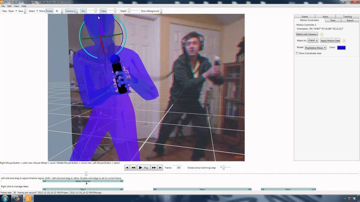 Animating Sword Motions with iPiSoft and PS Move.