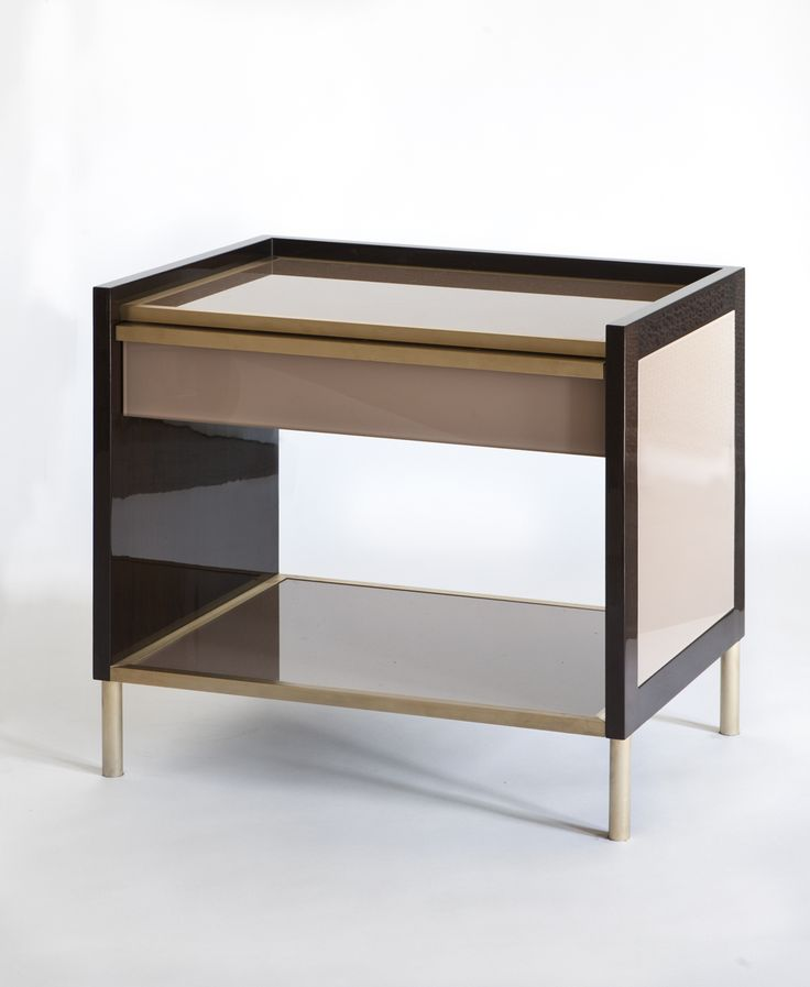 Buy Bobs Bedside Table By Brett Design   Made To Order Designer Furniture  From Dering Hallu0027s Collection Of Contemporary Transitional Nightstands U0026  Bedside ...