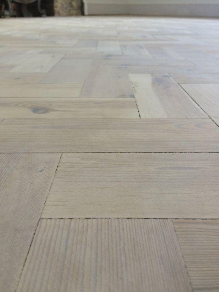 detail look of a white wash parquet floor - Parquet Floor