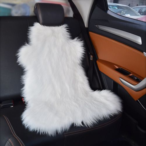 Faux Sheepskin Rug Soft Carpet Chair Cover Seat Pad Shaggy Area Rugs For Bedroom