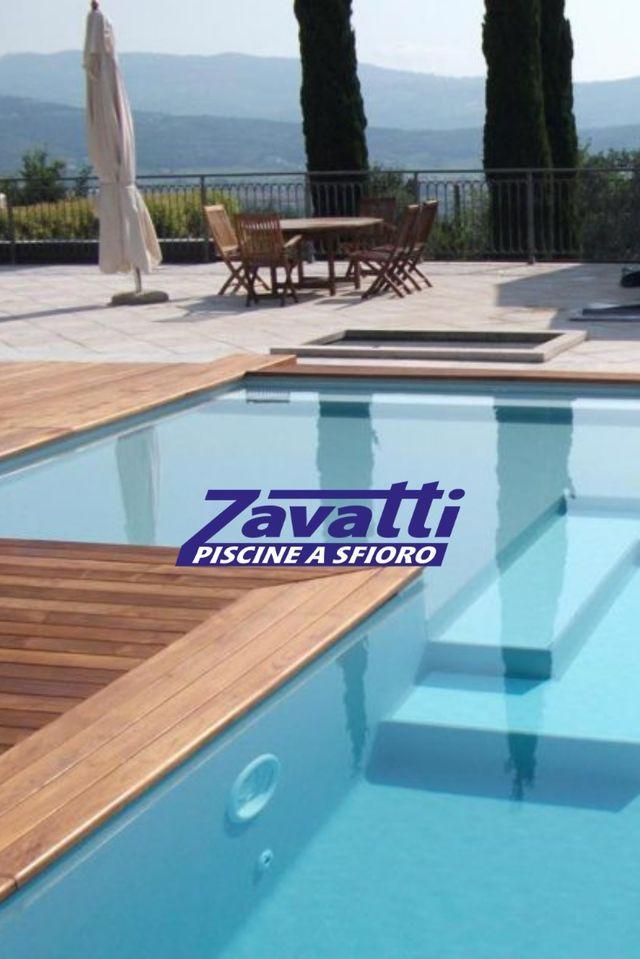 Piscina A Sfioro Con Bordo In Legno Su Richiesta Pool Summer