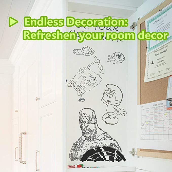 Whiteboard Sticker Wall Decal Self Adhesive Wall Sticker Peel And Stick Whiteboard Contact Paper 17 5 By 78 7 Inch Whiteboard Sticker Wall Stickers Wall Decals