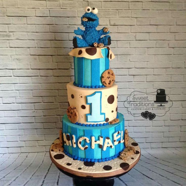Nancy Cross: Cookie Monster birthday cake