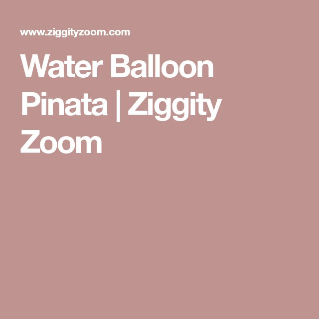 Water Balloon Pinata | Ziggity Zoom