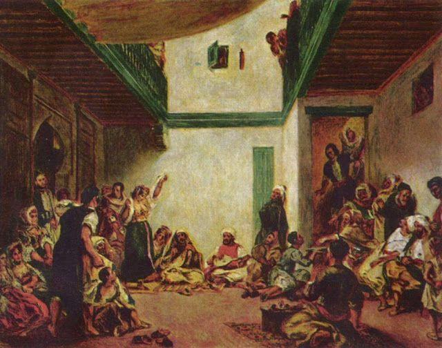 Jüdische Hochzeit (nach Delacroix), 1880-1890. Oil on canvas, 109 x 145 cm. Worcester Art Museum.