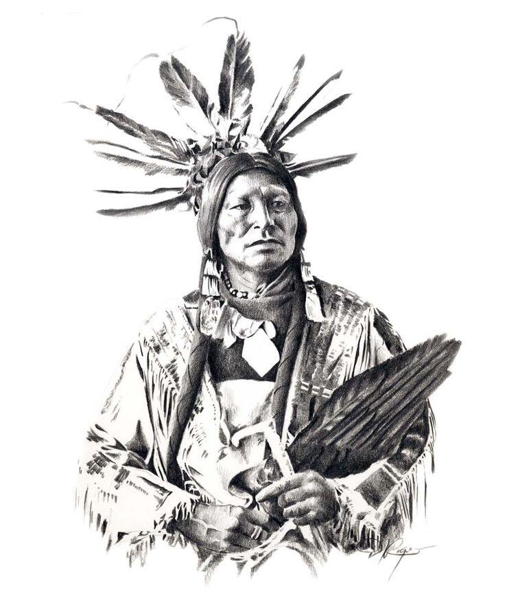 CHIEF veel HOORNS potlood tekening American Indian Art Print ondertekend door de kunstenaar D J Rogers door k9artgallery op Etsy https://www.etsy.com/nl/listing/11476329/chief-veel-hoorns-potlood-tekening