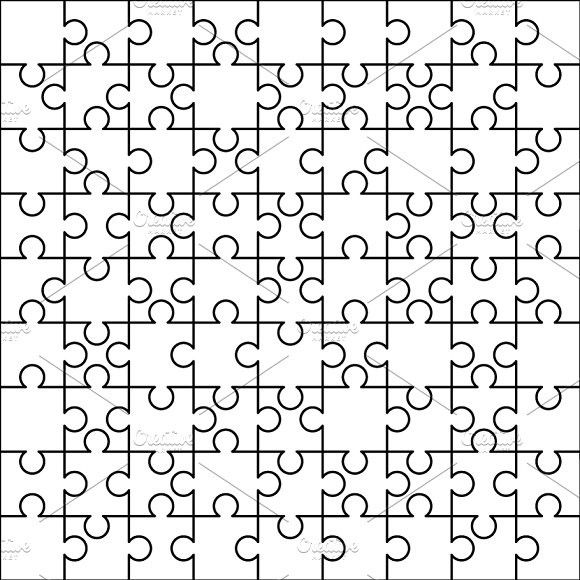 81 White Puzzles Pieces Template With Images Puzzle Piece