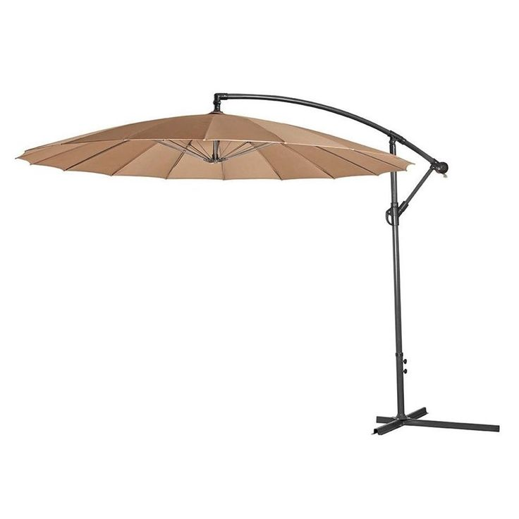 #Ebay#Cantilever#Parasol#3m#Large#Garden#Cover#Adjustable#Umbrella#Steel#Frame#Patio