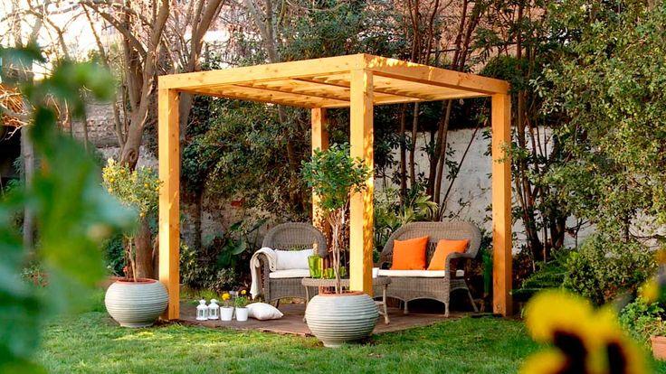 Resultado de imagen para imagen de pergolas de bambu en patios
