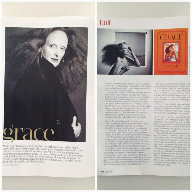 Grace-Anılar kitabımız Vogue Türkiye Şubat sayısında #shopigoyayinlari http://shopigo.com/brands/grace