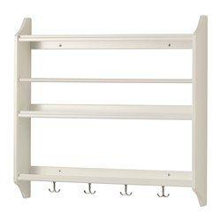 "STENSTORP plate shelf, white Width: 31 ½ "" Depth: 5 "" Height: 30 "" Width: 80 cm Depth: 12.9 cm Height: 76 cm"