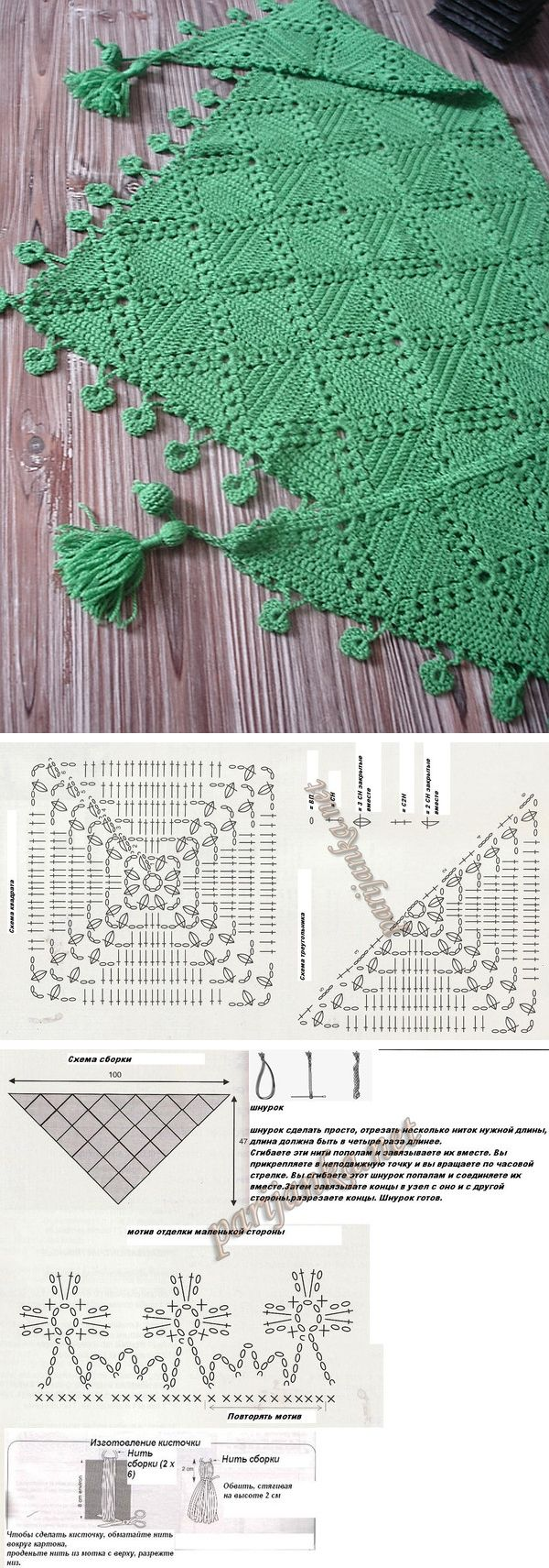 Chèche #024-T9-225, from Phildar. Delicate shawlette worked in fingering weight…