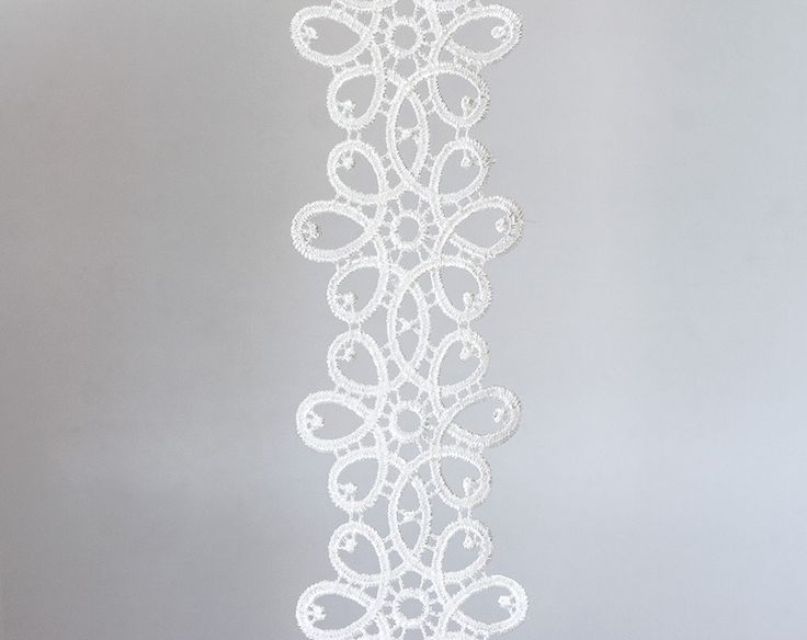 2003_Delicate lace trim 6 cm, Off white ribbon lace, White lace border, Wedding lace ribbon, White floral lace, Floral lace border_2.5 m. by PurrrMurrr on Etsy