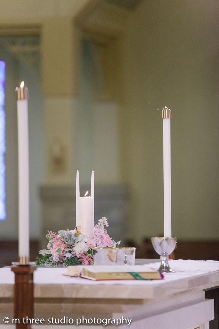 Alter in Elegant Wedding Ceremony | The Majestic Vision Wedding Planning | St Jerome Catholic Church in Milwaukee, WI | www.themajesticvision.com | M Three Studio