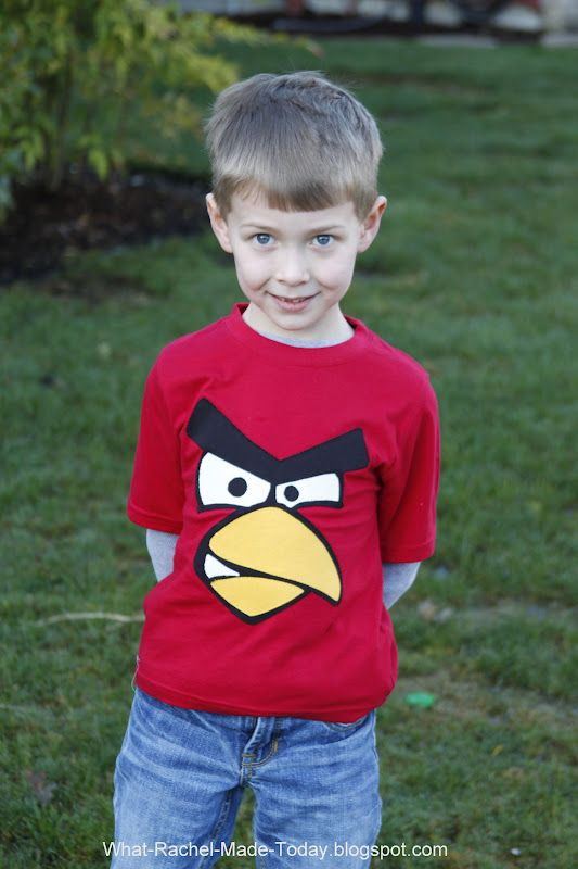 What I Made Today: TUTORIAL: Angry Birds T-shirt