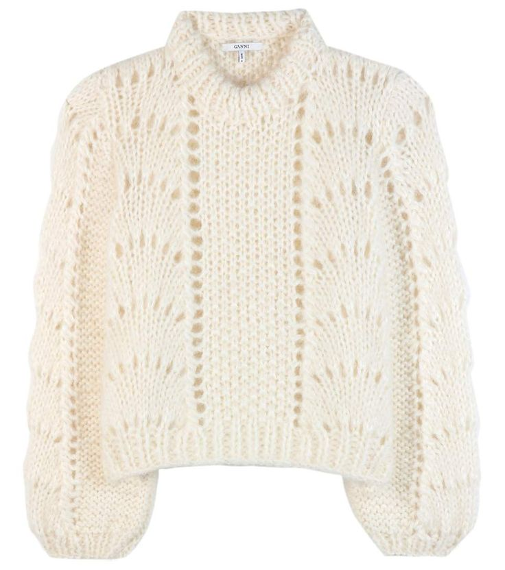 mytheresa.com - The Julliard Mohair And Wool Sweater - Ganni | mytheresa.com - Luxury Fashion for Women / Designer clothing, shoes, bags