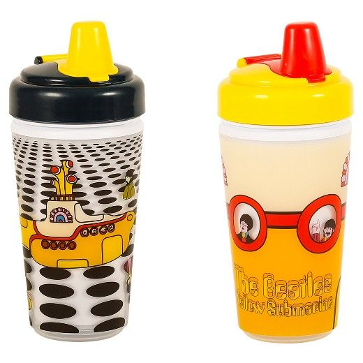 Daphyl's The Beatles Yellow Submarine Sippy Cup 2 Pack. Celebrate and continue the legend of The Beatles with this exclusive licensed 2 pack. Featuring imagery from the wondrous Yellow Submarine album and film an absolute delight for all