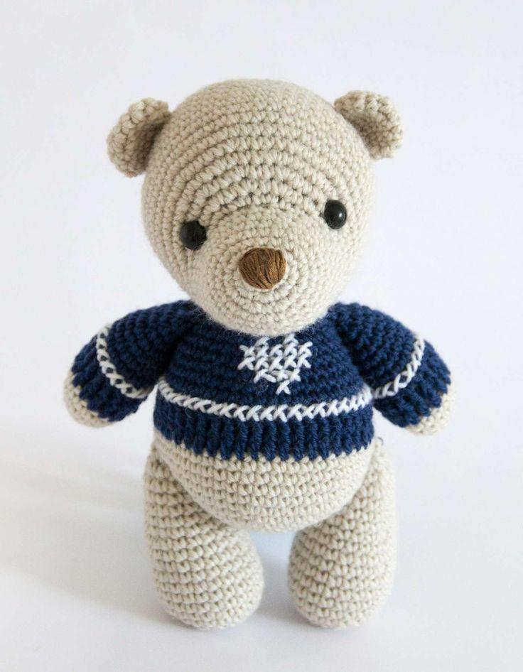 Beispiel für Teddy häkeln aus flauschiger Wolle
