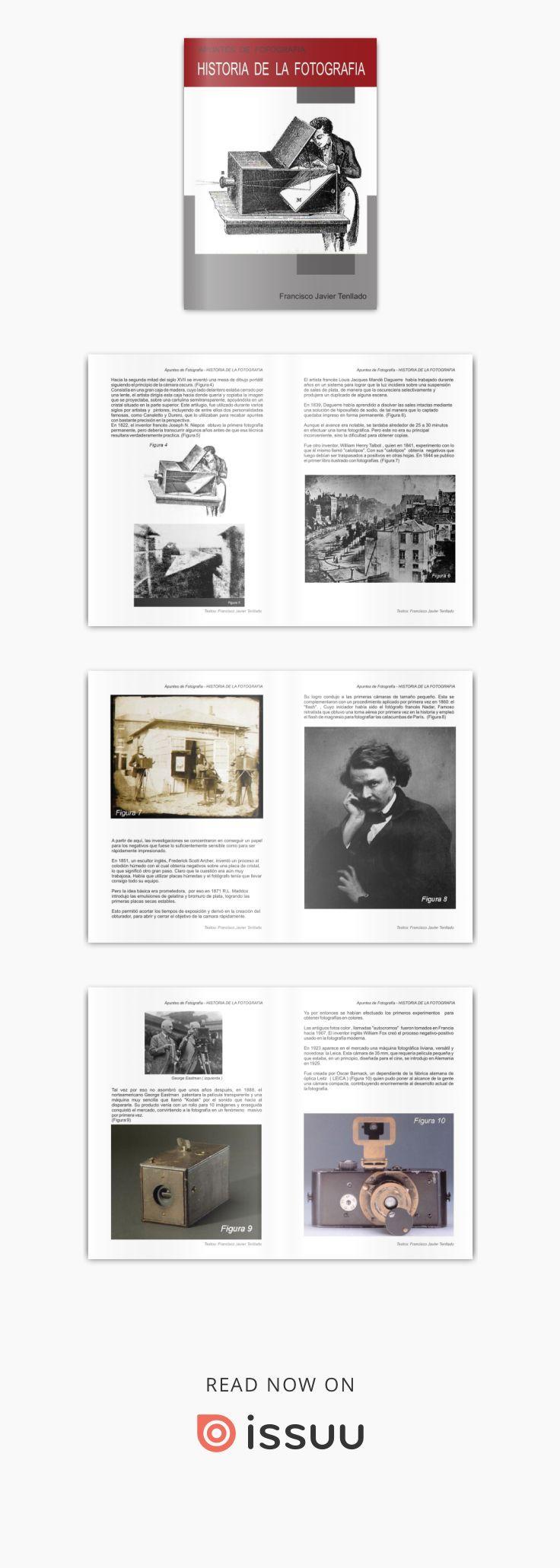 Historia de la fotografia  Apuntes de Fotografía Francisco Javier Tenllado. Historia de la Fotograía
