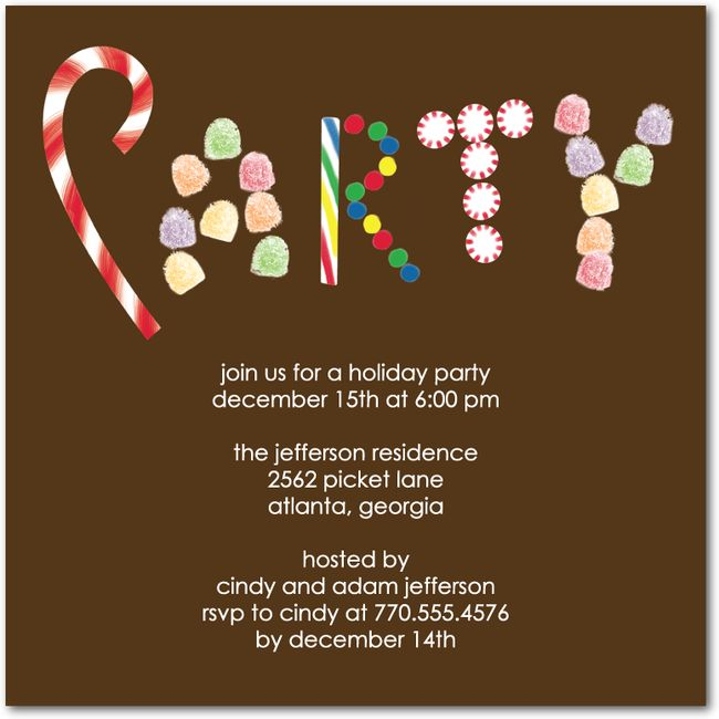 Check Out Our 10 Beautiful Candy Cane Christmas Party Invitations Perfect For Your Holiday Celebration Weve Got Xmas Cards Too