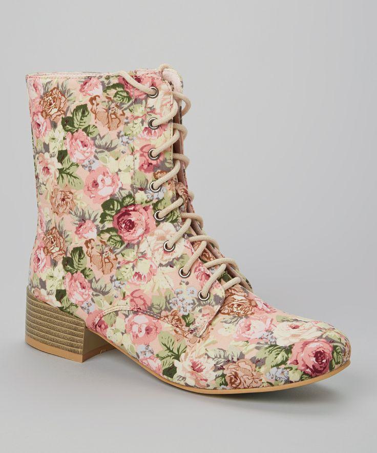 Boots Flowers écru/rose gBcg5j
