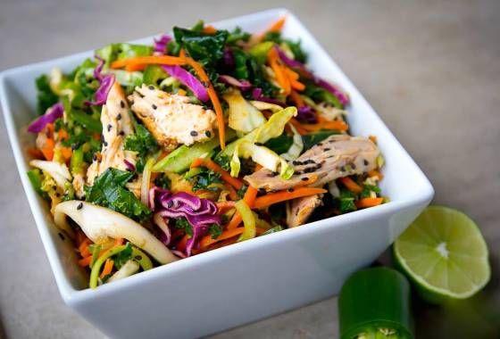 Легкий и пикантный азиатский салат -  красивый и утонченный,  как сама Азия!