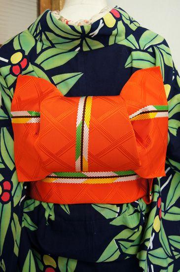 Gorgeous color combination! kimono and obi