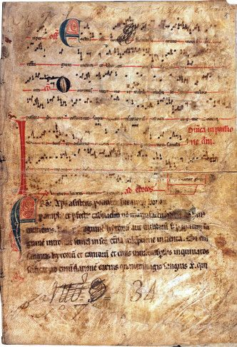 Medieval Missal with Neumes © Medieval and Renaissance Codices