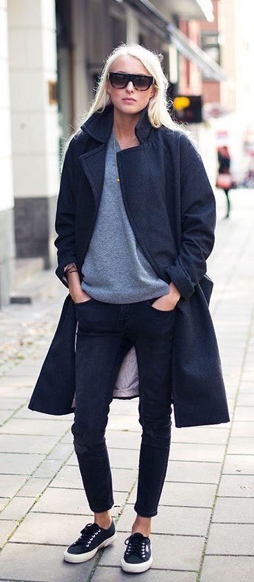 Best 10  Black coat outfit ideas on Pinterest | Coat, Brogues ...