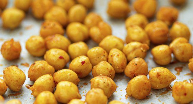 Dica de salgadinho saudável para dieta: grão de bico assado